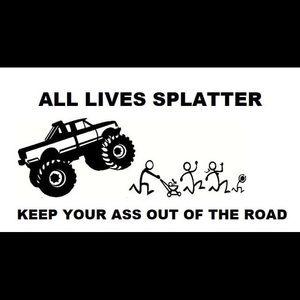"COPY - T-shirt "" all lives splatter"""